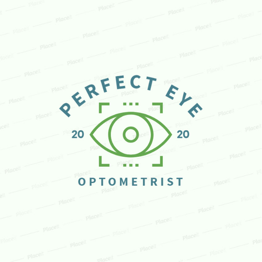 Optometry Logo Maker with Eye Graphics
