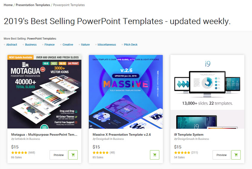 Best PowerPoint presentation design templates on GraphicRiver