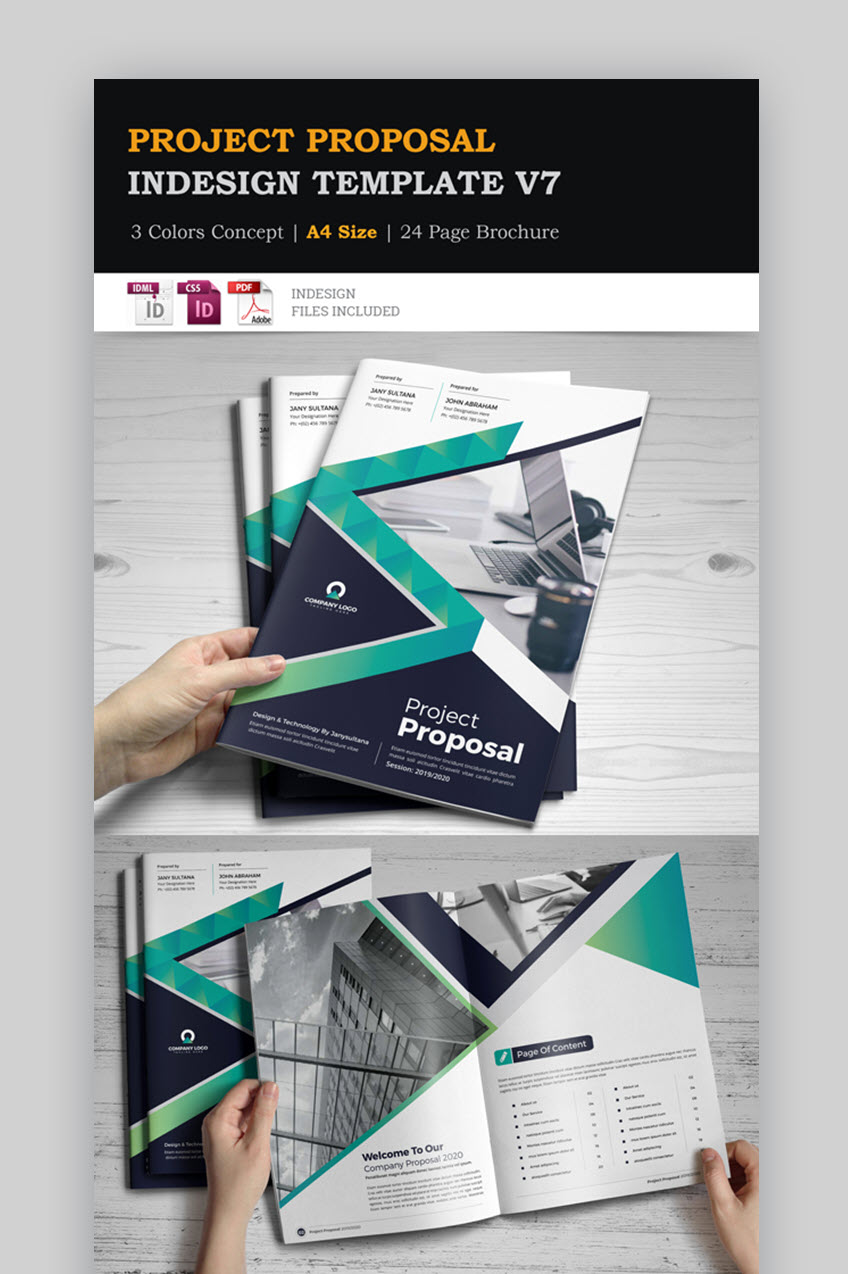 Professional Project Proposal Template InDesign v7