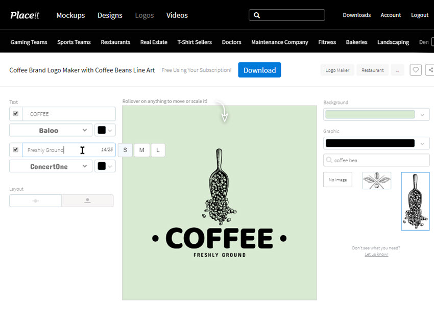 customize coffee shop logo