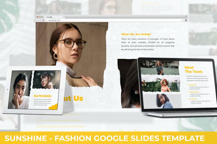Google Slides Background Sunshine Template