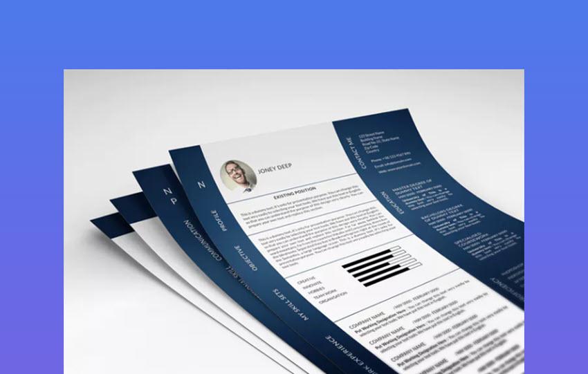 Color Photo Resume Design