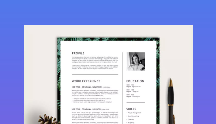 30 best photoshop  psd  resume cv templates  photo formats 2020