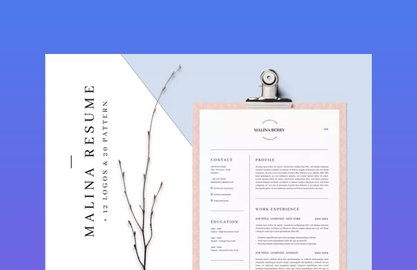 22 Best Photoshop Psd Resume Templates With Photo Formats