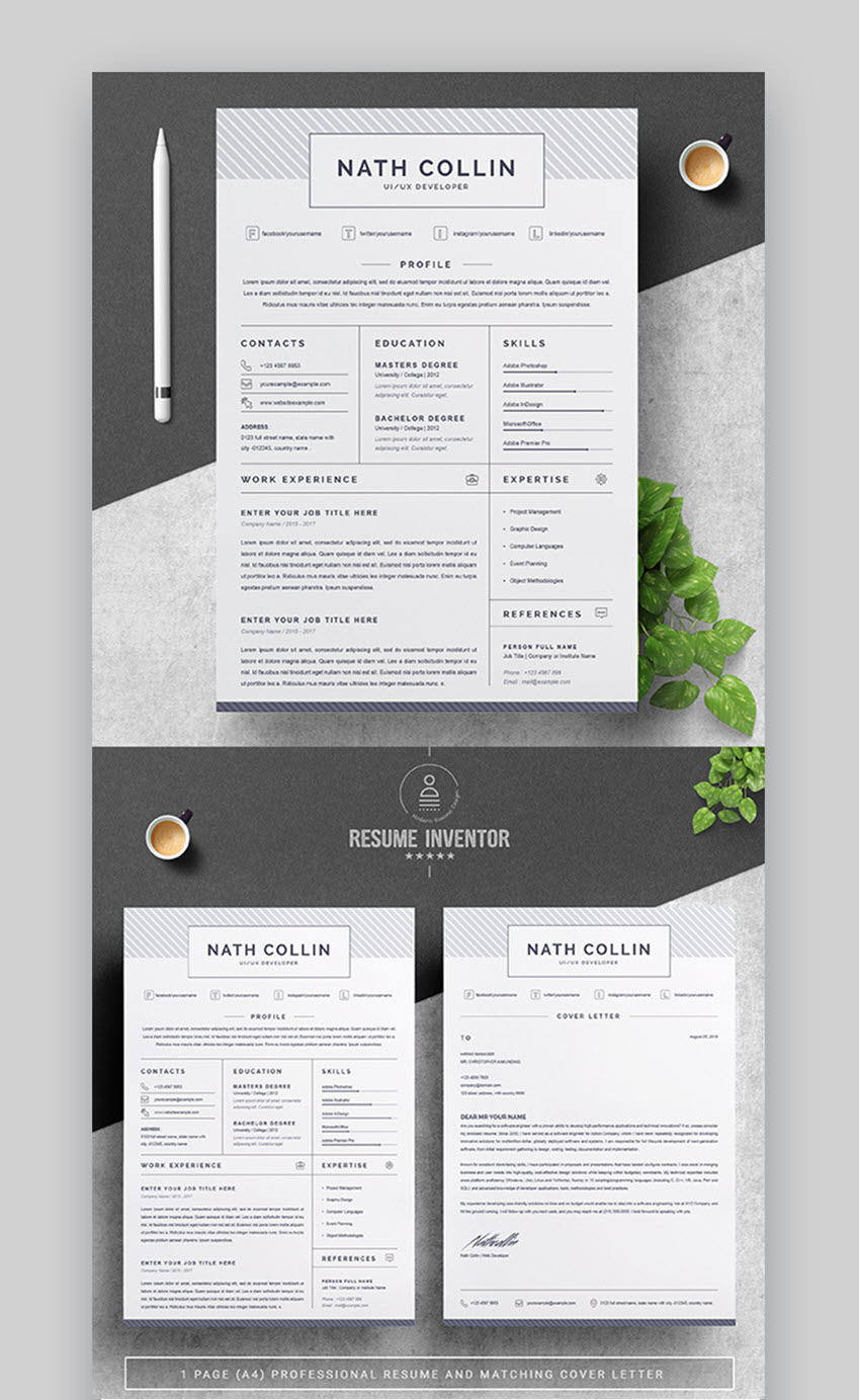 best in 2019  30 professional resume design templates