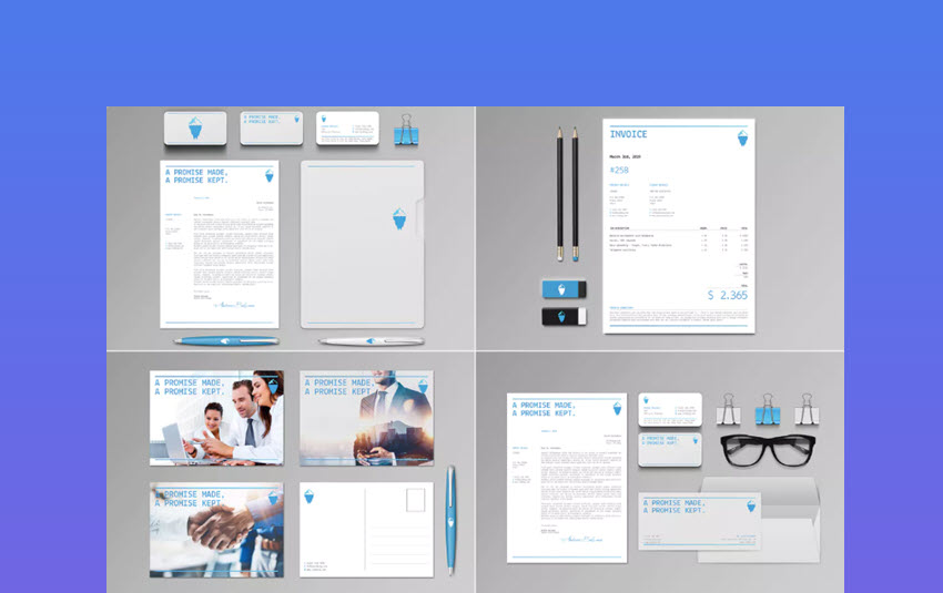Iceberg Corporate Stationery Set  Invoice