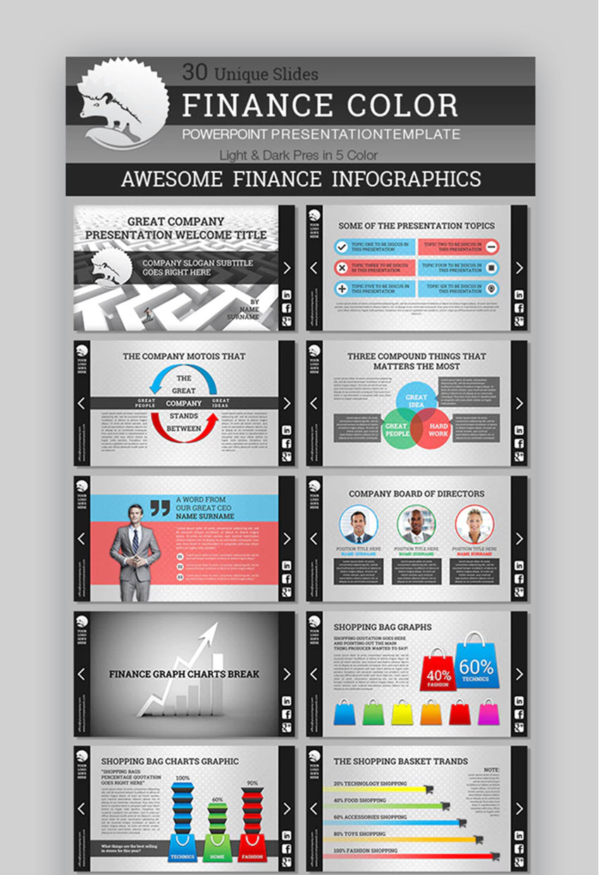 Finance Color Business PowerPoint For Financial Presentations