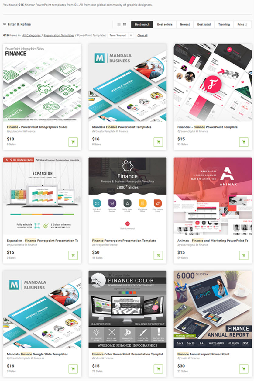 Awesome Business Finance Templates on GraphicRiver