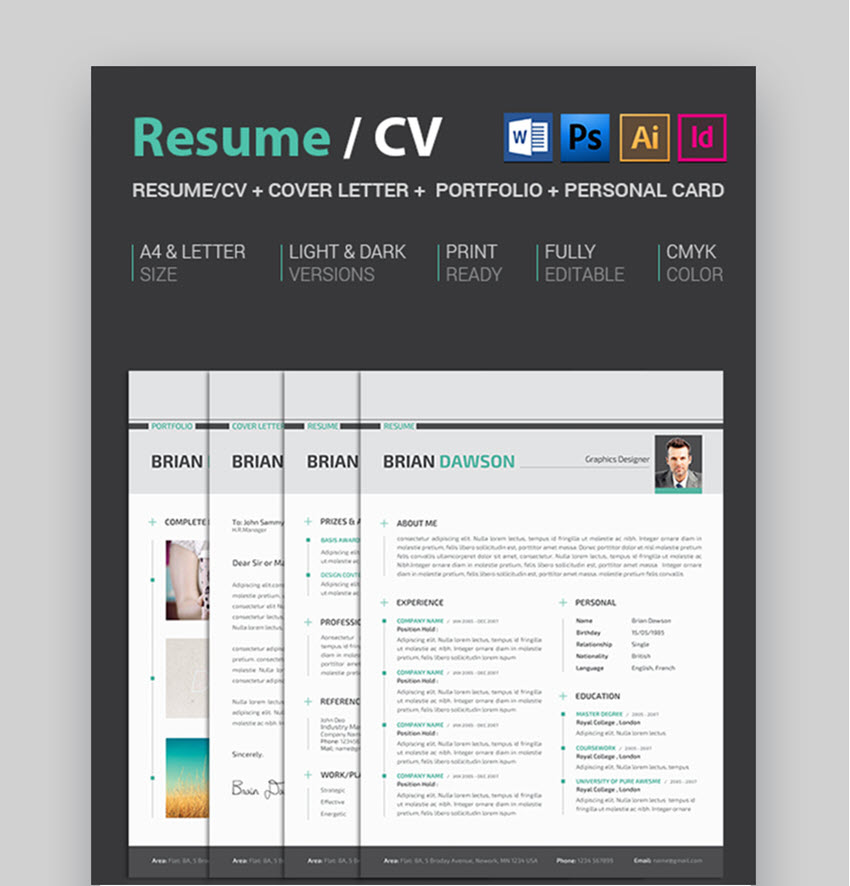 resume template illustrator