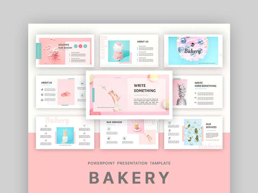 bakery  infographic template powerpoint