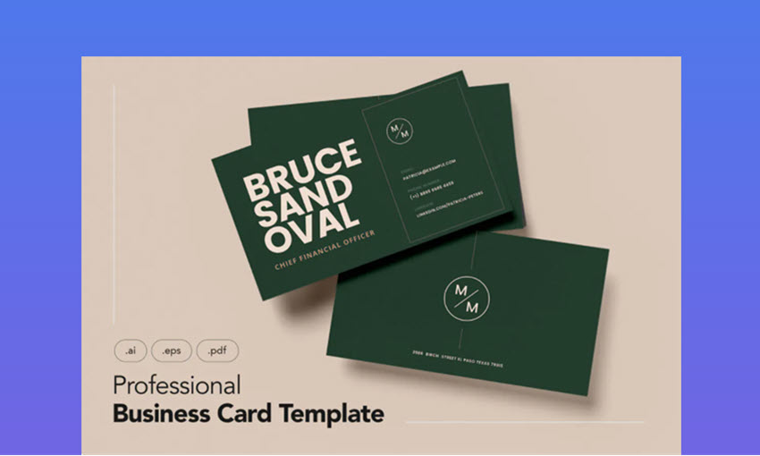 Professional Business Card Minimalist Template
