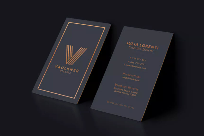 20 Double Sided Vertical Business Card Templates Word Or Psd Photoshop For 2019