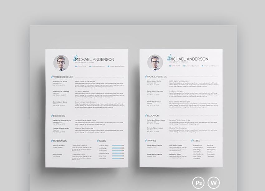 25 Best Job Resume Templates With Simple Professional