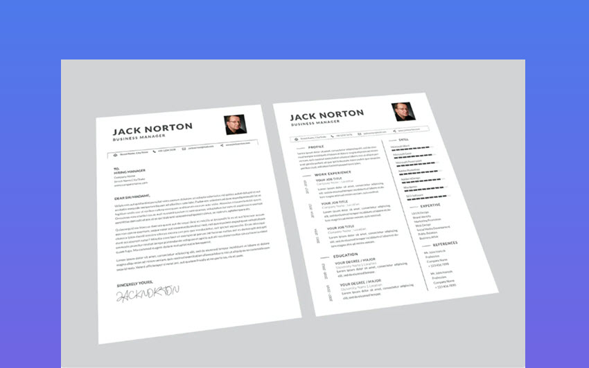 Jack Business - Clean Resume Template