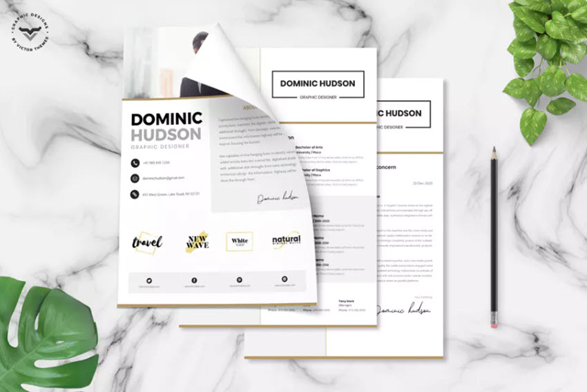 22  free minimalist resume templates  word  indesign