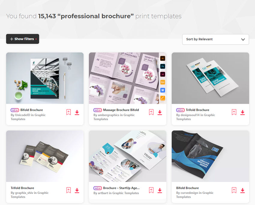 Professional Business Brochure Templates