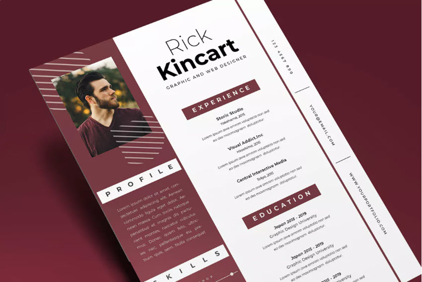 25+ Attractive (Eye-Catching) Resume (CV) Templates With Stylish...