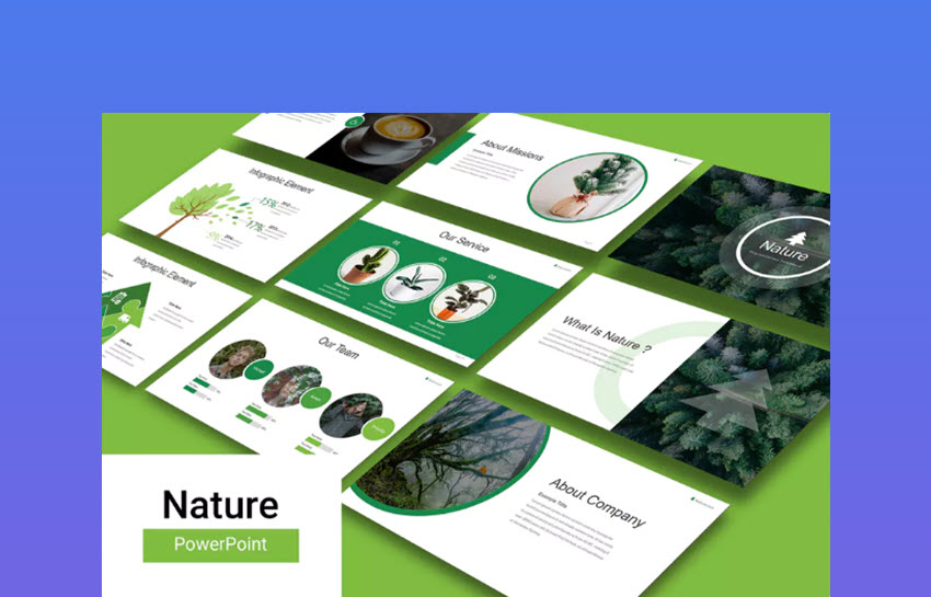 Minimalist Nature PowerPoint Presentation Template