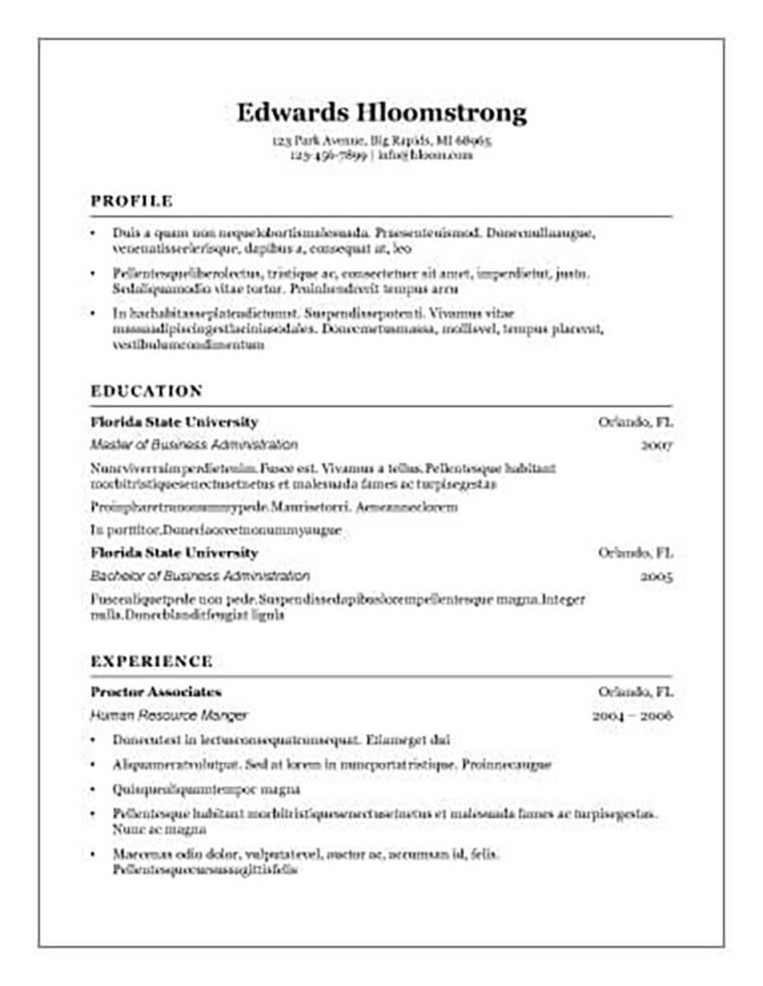 25 Free Resume Templates For Open Office LibreOffice And MS Word
