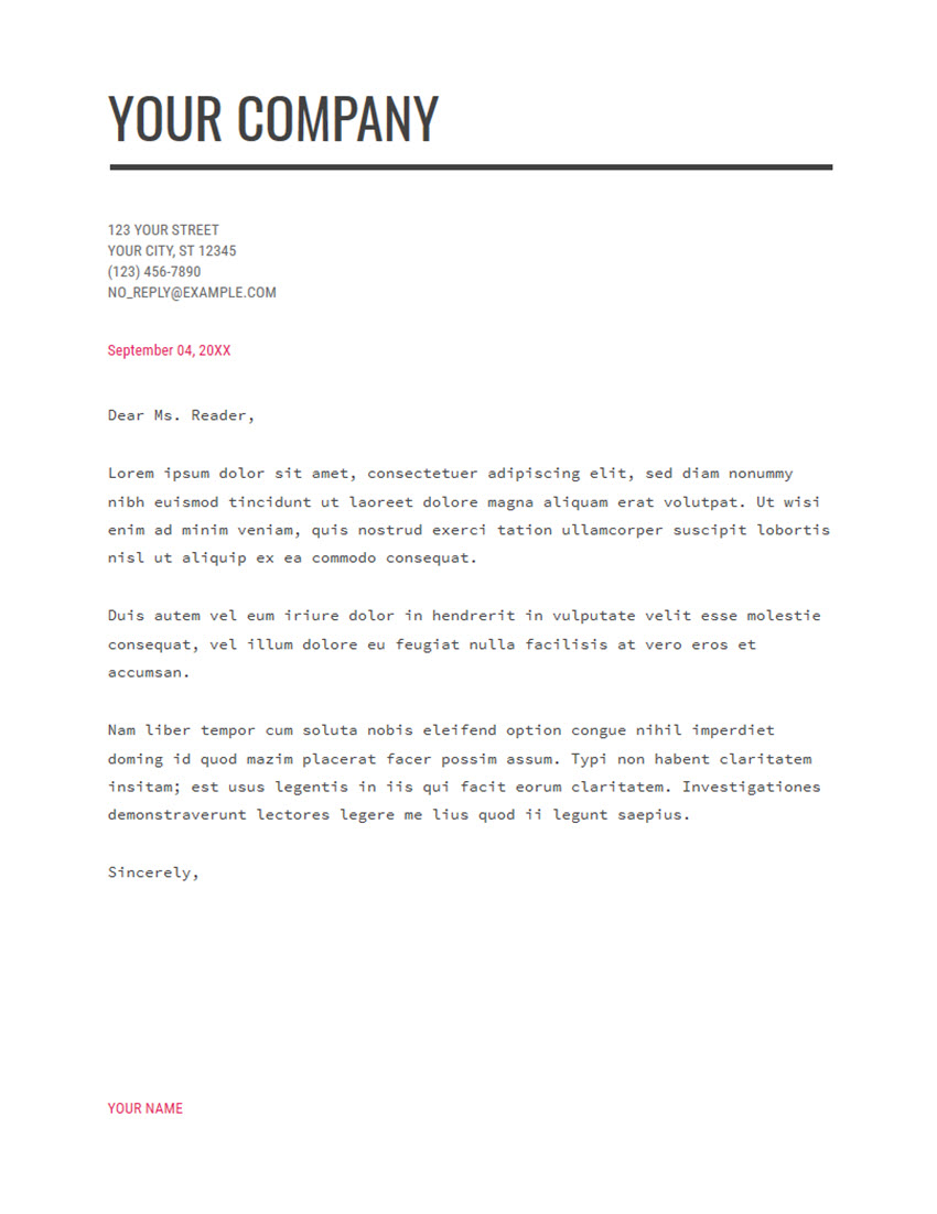 Free Cover Letter Download Modern Writer
