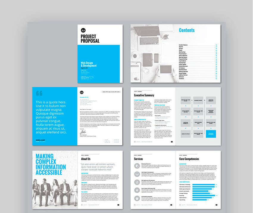 Project Proposal Template available on GraphicRiver