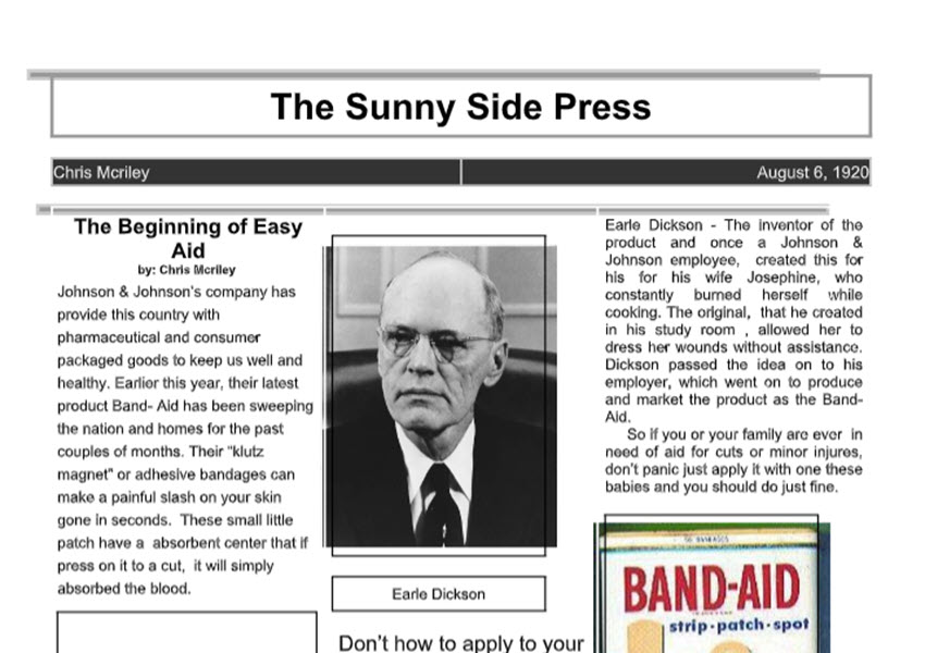 The Sunny Side Press Newspaper Template