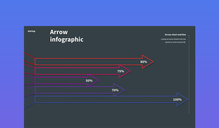 Arrow Keynote Infographic Template