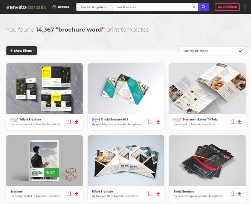 brochure templates for Word from Envato Elements