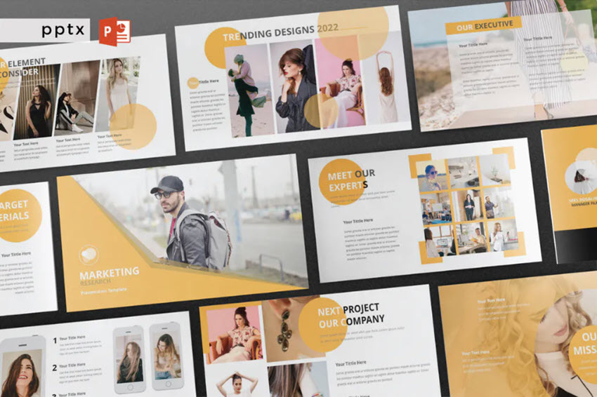 Marketing Research Presentation Template for PPT