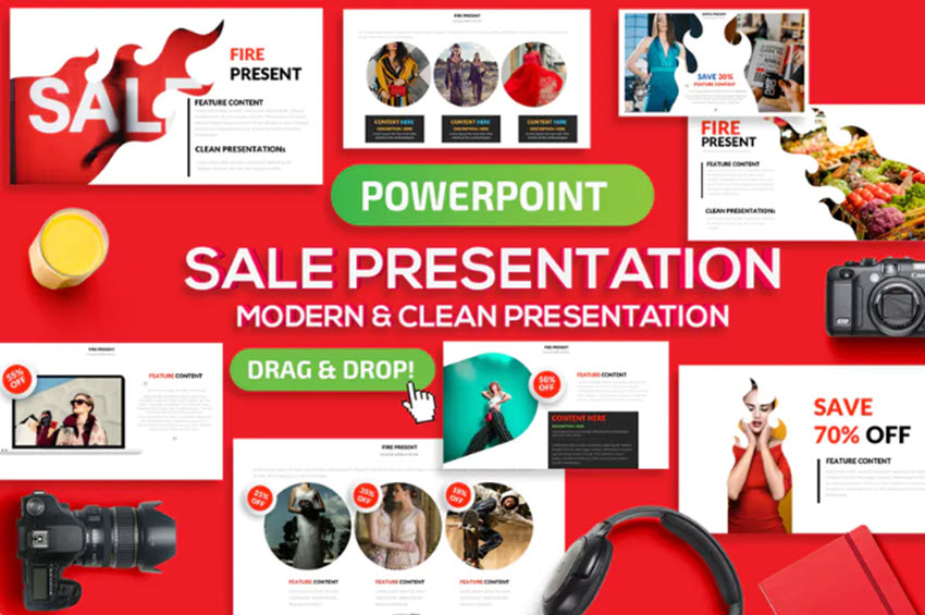 Sales Presentation Template example from Elements