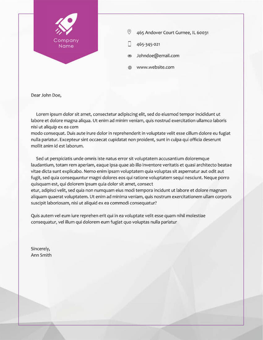 Free Business Letterhead Template 06 for Word