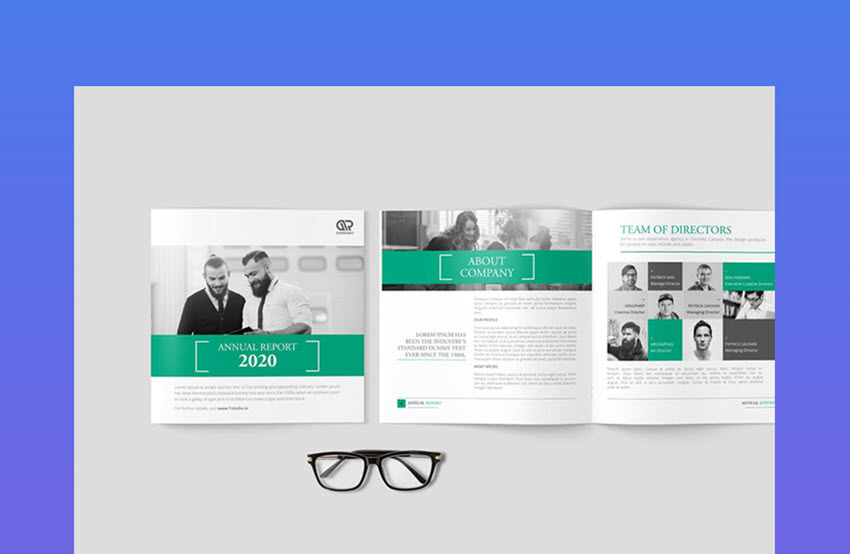 Square Annual Report Template Layout