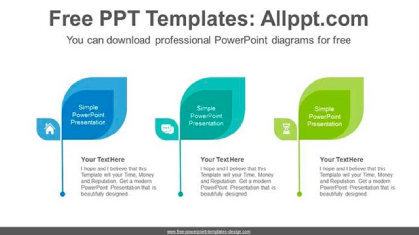 Overlapping Leaves PowerPoint Diagram