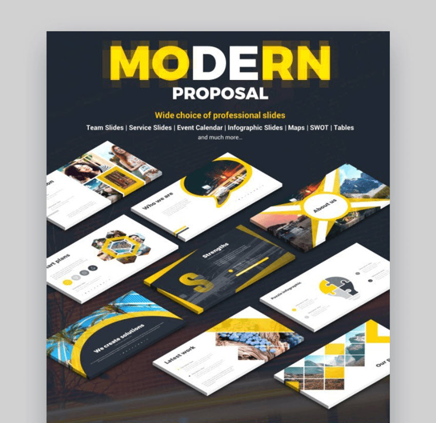 modern powerpoint proposal template