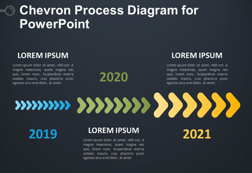 Chevron Process Diagram for PowerPoint
