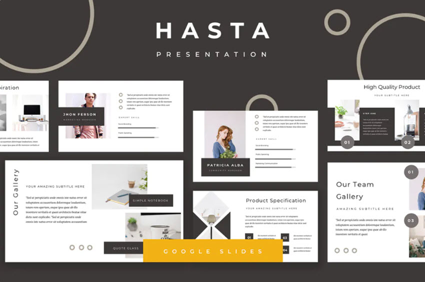Hasta Minimalist Google Slides Theme