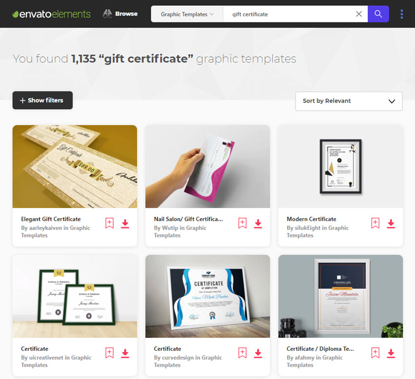 Envato Elements Elements Business Certificates