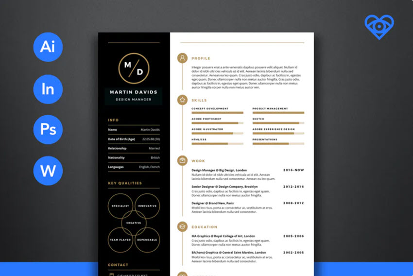 CV Resume Template Sample