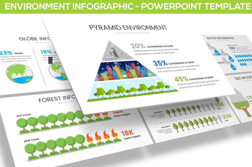 Infografia de medio ambiente para PowerPoint