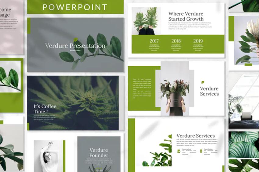 Fondos de PowerPoint Verdure