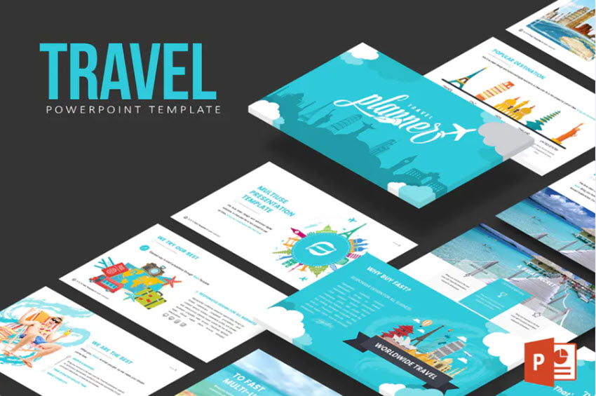 Travel Fun PowerPoint Template