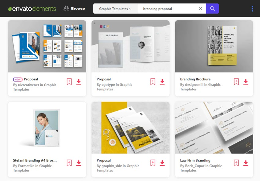 branding proposal templates on Envato Elements