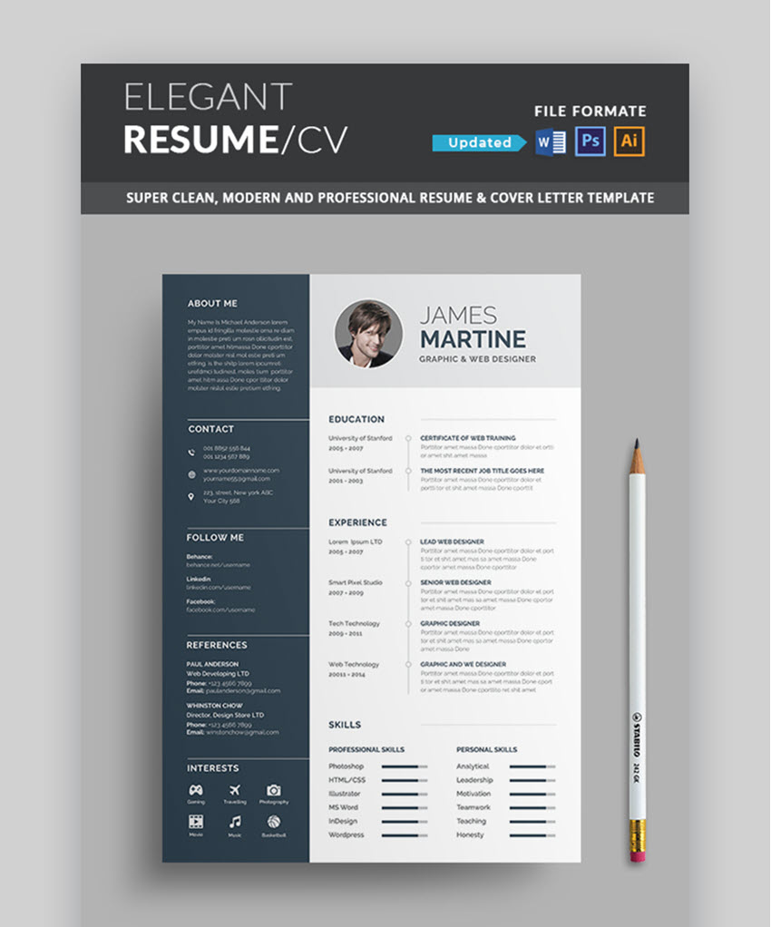 Job Resume Template Example