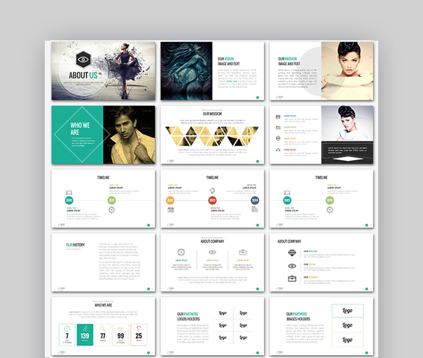Sonata Elegant PowerPoint Template for Wedding Slideshows