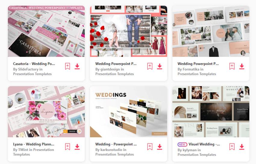 Envato Elements Wedding PowerPoint Themes