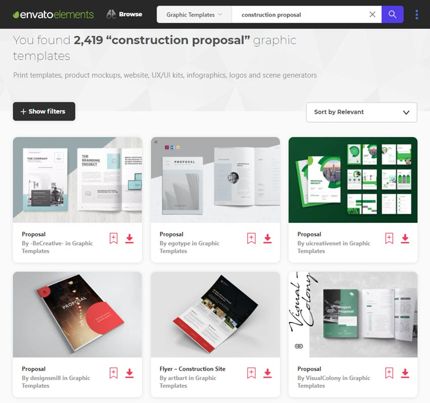 Construction Proposal Templates Envato Elements