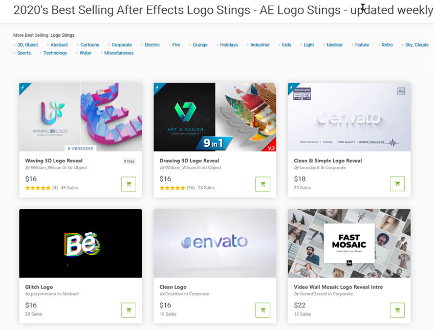 35 Video Logo Animations In After Effects Ae Templates For 2020 Inspiration