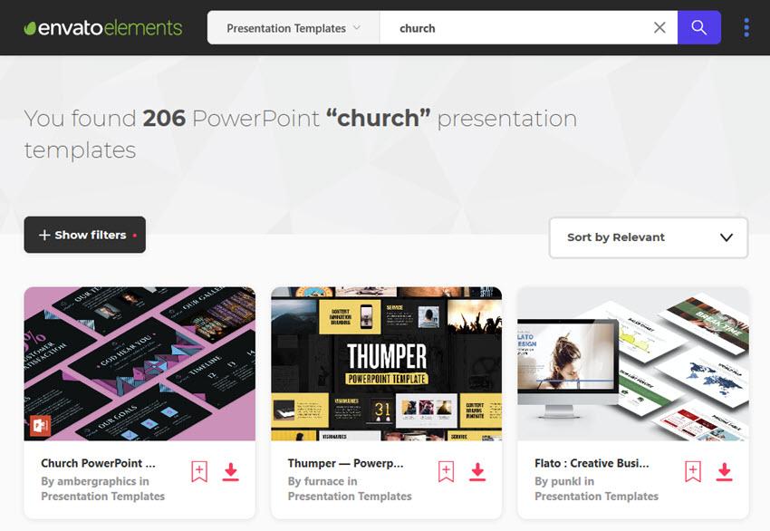 Envato Church PowerPoint Templates