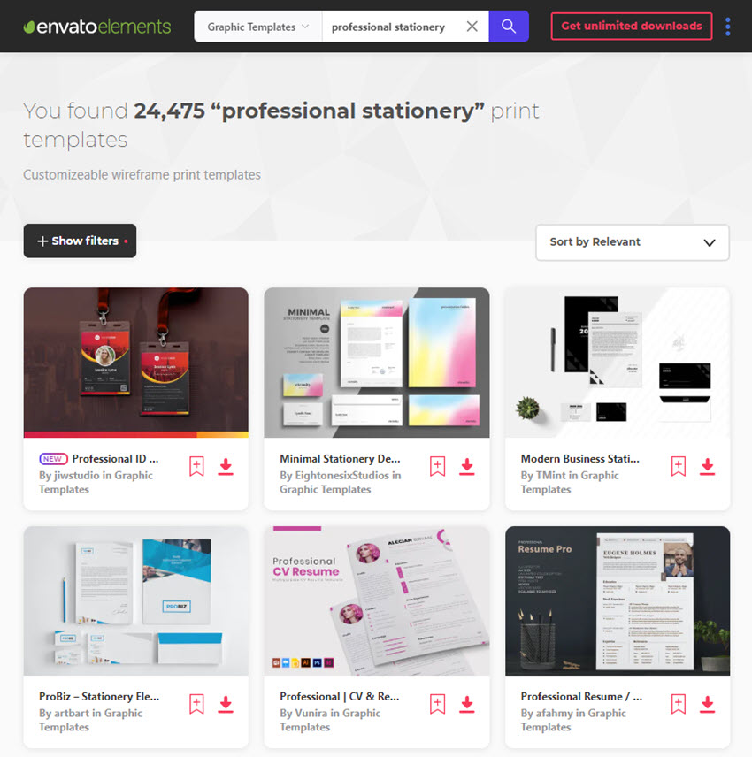 Stationery Letterheads on Envato Elements