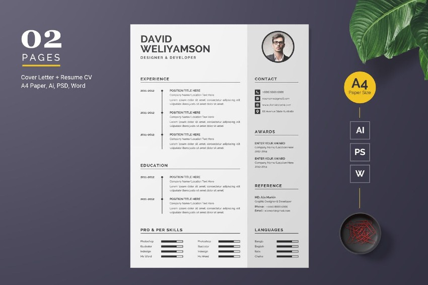 20 best free pages  u0026 ms word resume cv templates  download